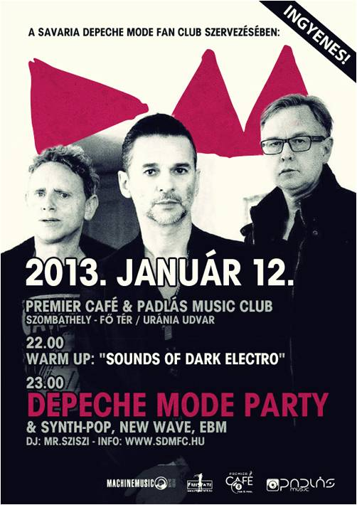 Poszter - SDMFC / DEPECHE MODE PARTY